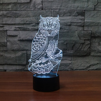 Manufacturer's wholesale Led Small Table led Lamp Electronic Products Creative Owl Nightlight Powerbank Led Usb Kids Lamp
