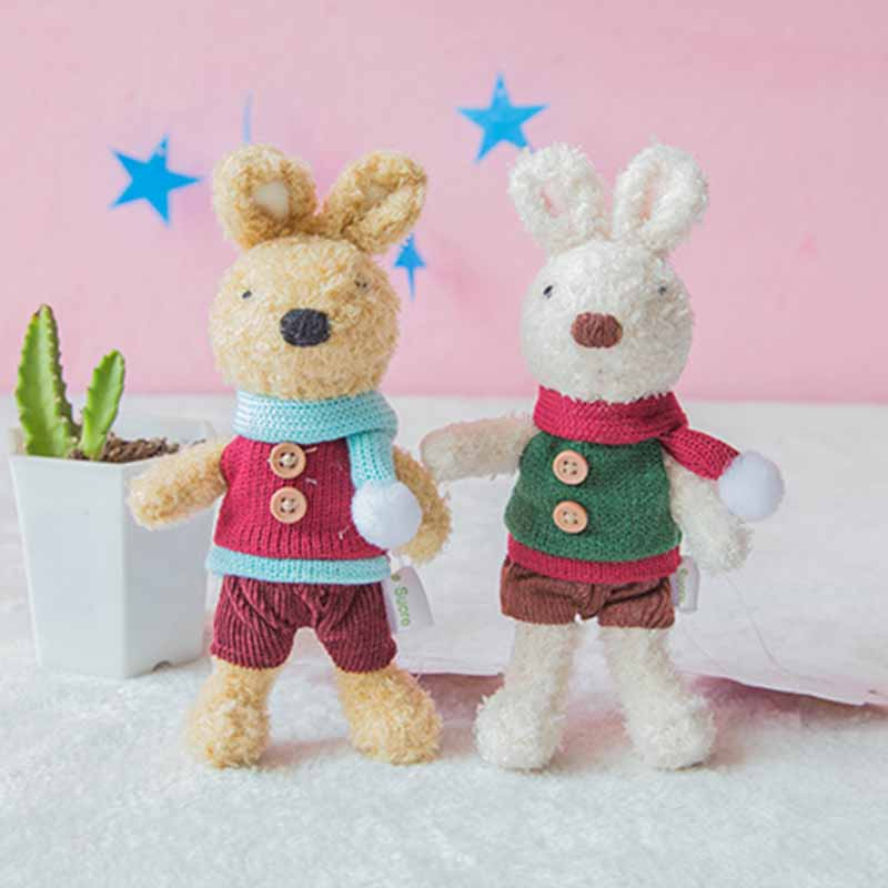 Toys & Hobbies Inventive 1pc 2x18cm 12 Patterns Small Rabbit Pendant Plush Toy Cute Rabbit Boutique Keychain Sugar Bunny Ornament Girls Backpack Pendant Stuffed Animals & Plush