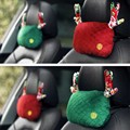 2Pcs Car Pillow Neck Headrest Car Cushion Christmas Deer Antlers Seat Headrest Pillow 25*14cm Christmas Gift New Year Present