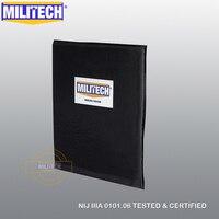 Мягкая баллистическая панель MILITECH Aramid  пуленепробиваемые пластинчатые вставки NIJ Level IIIA 3A 11x14 дюймов  рюкзак  портфель  корпус  броня