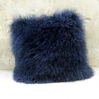 Free Shipping CX D 04B/Z Custom Made High Quality Mongolian Lamb Fur Pillow Case ~Drop Shipping