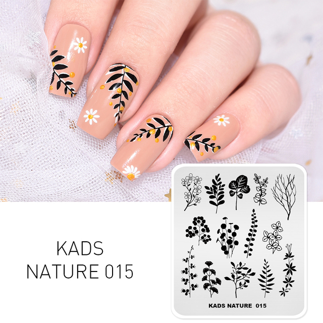 Nail Stamping Plates Manicure Stamping Hot sale Flower Leaves Butterfly Image 16 Choices Stamper Template Stencil for Nail