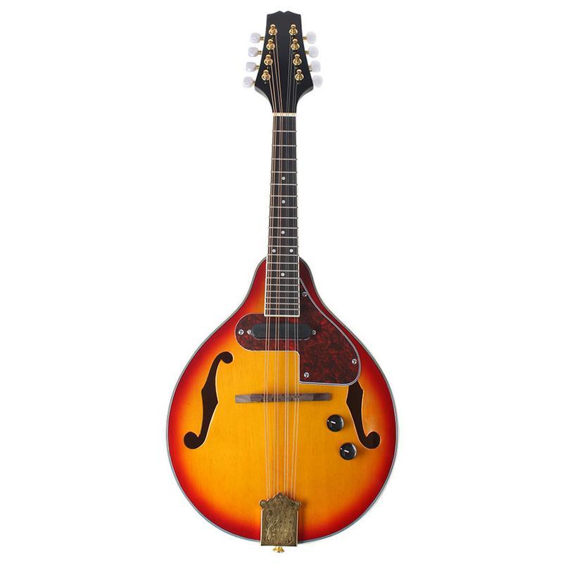 A Type hêtre boîte électrique acoustique-électrique mandoline Piano 8 cordes guitare