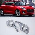 Аксессуары для автомобиля ABS  передний противотуманный светильник  крышка 2 шт. для suzuki 2018 swift Hatchback
