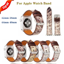 new Leather sport band Bracelet Straps for Apple watchband 4 44/40mm men/women watches accessory iwatch series 3 2 1 42/38mm