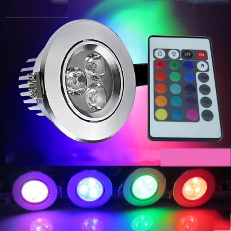 3W RGB Lampada LED Bulb 85-265V RGB LED Lamp 220V 110V Spotlight Lamparas LED Light Bulb Spot Luz Christmas Lampadas
