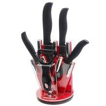 """Küchenmesser 3 """"4"""" 5 """"6"""" 6-zoll-zirkonia-keramik Messer Stellt Eine Schwarze Peeler + A Acryl Messerhalter High Grade Kochen Werkzeuge Verkaufen"""