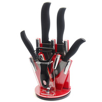 Kitchen Knife 3 4 5 6Inch Zirconia Ceramic Knife Sets One Black Peeler +A Acrylic Knife Holder High Grade Cooking Tools Sale