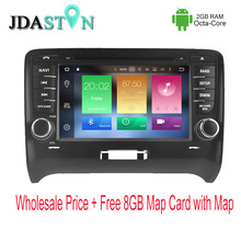 JDASTON 2 DIN 2GB Ram Android 6.zero Automobile DVD Participant For AUDI TT 2002-2008 Octa Core 32GB 1080P Automobile Radio Multimedia GPS Navigation