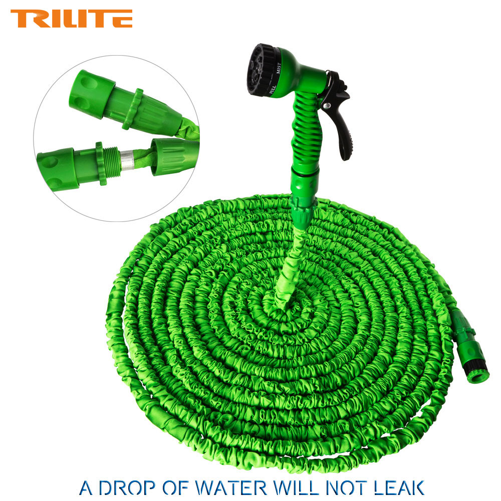 New 100ft telescopic car wash water pipe with spray gun flexible expandable garden water hose Expandable garden hose 100 ft
