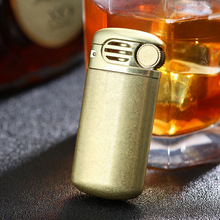 Vintage Style Old Fashioned Pure Copper Lighter Gasoline Kerosene Oil Petrol Lighter Nostalgic version Refillable Lighter genuine zippo copper oil lighter chrysler silver
