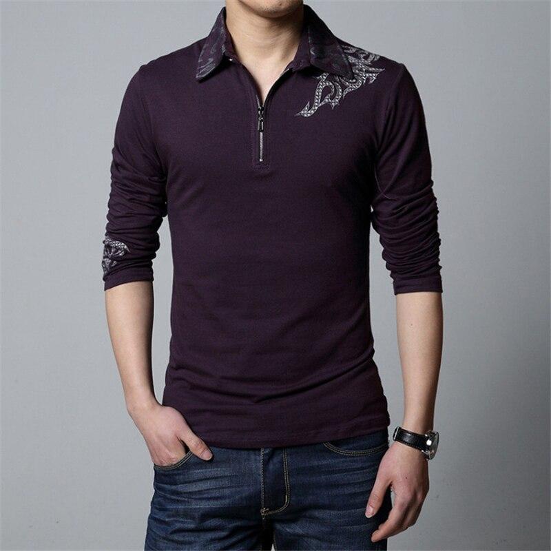 86041af8 Smaller Than European Size. ARCSINX Cotton Polo Men Polo Shirt Big Size  Autumn Winter Long Sleeve Polo Shirts Men Embroidery Polos Brand Mens 5XL  4XL 3XL