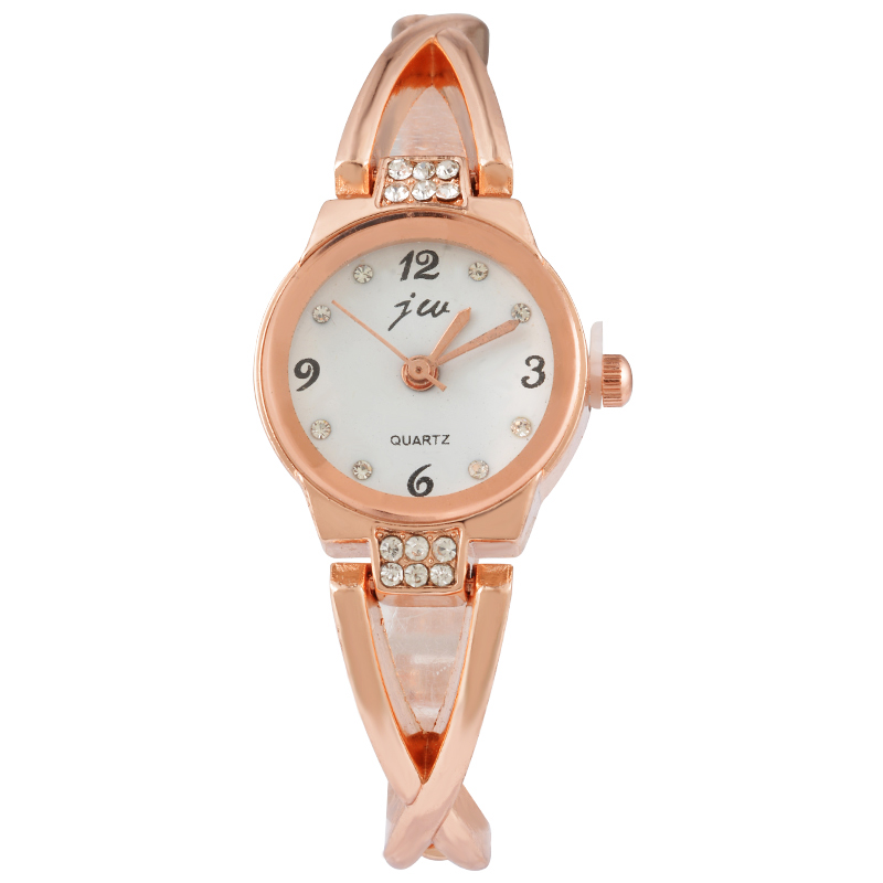 Doreen Box Stainless Steel Quartz Wrist Watches Rose Gold Color Multicolor Dial Plate Battery Included 19cm(7 4/8) long 1 Piece