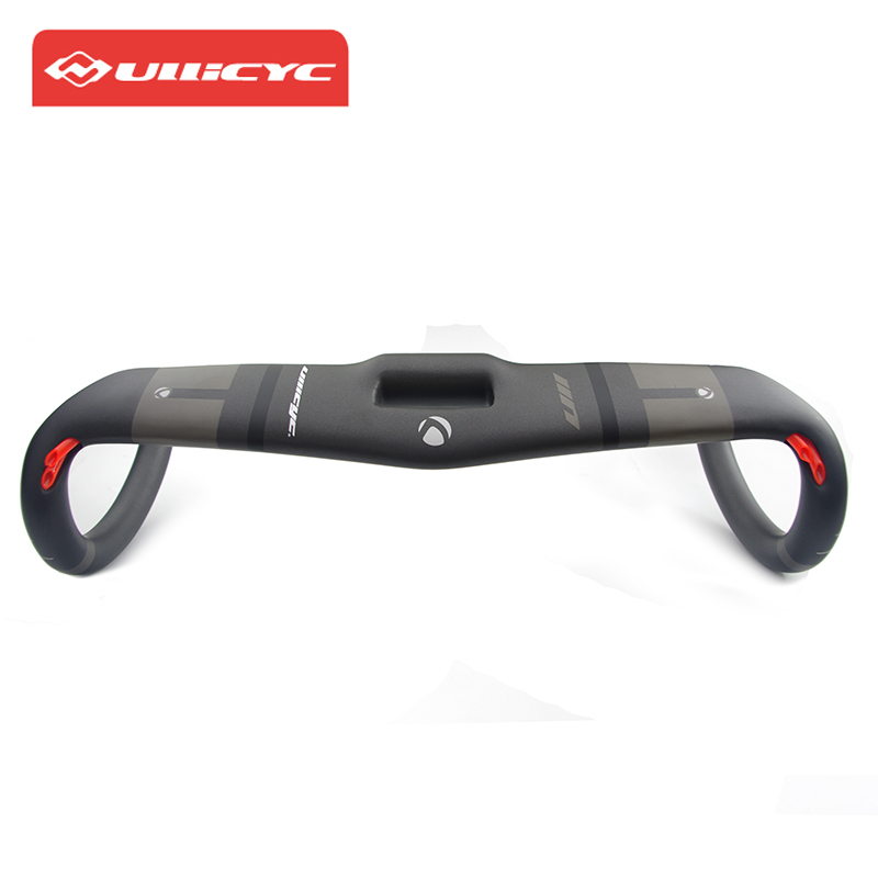 Ullicyc Bicycle Handlebar Road Carbon Bike Handlebar Bent Bars 3K Matt Hollow Ultralight Aero S5 Carbon Handlebar 400/420/440mm
