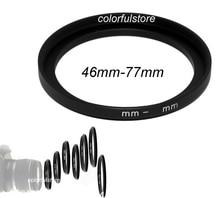 Dobry 46mm do 77mm 46 77 46 77mm metalowa Step Up do pierścieni kamery soczewki filtr Adapter krokowy filtry obiektyw uchwyt na kaptur L010