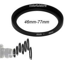 Good 46mm to 77mm 46 77 46 77 mm Metal Step Up Step Up Ring Camera Lenses Filter Stepping Adapter Filters Lens Hood Holder L010