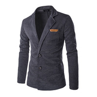 2018 New Men Blazer Fashion Slim Button Solid Color Casual Blazer For Men Brand Mens Suit