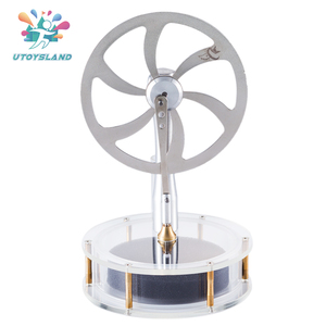 UTOYSLAND High Quality Diy Metal Low Temperature Stirling Engine Stem Steam Model Set Early Learning Model Kit Toys For Children