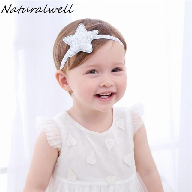 Naturalwell Kids Silver Star Headband Glitter Star Hairband Star Halo  Headband for Baby Girls Photo Prop Patriotic HB047 3fda11d95d1