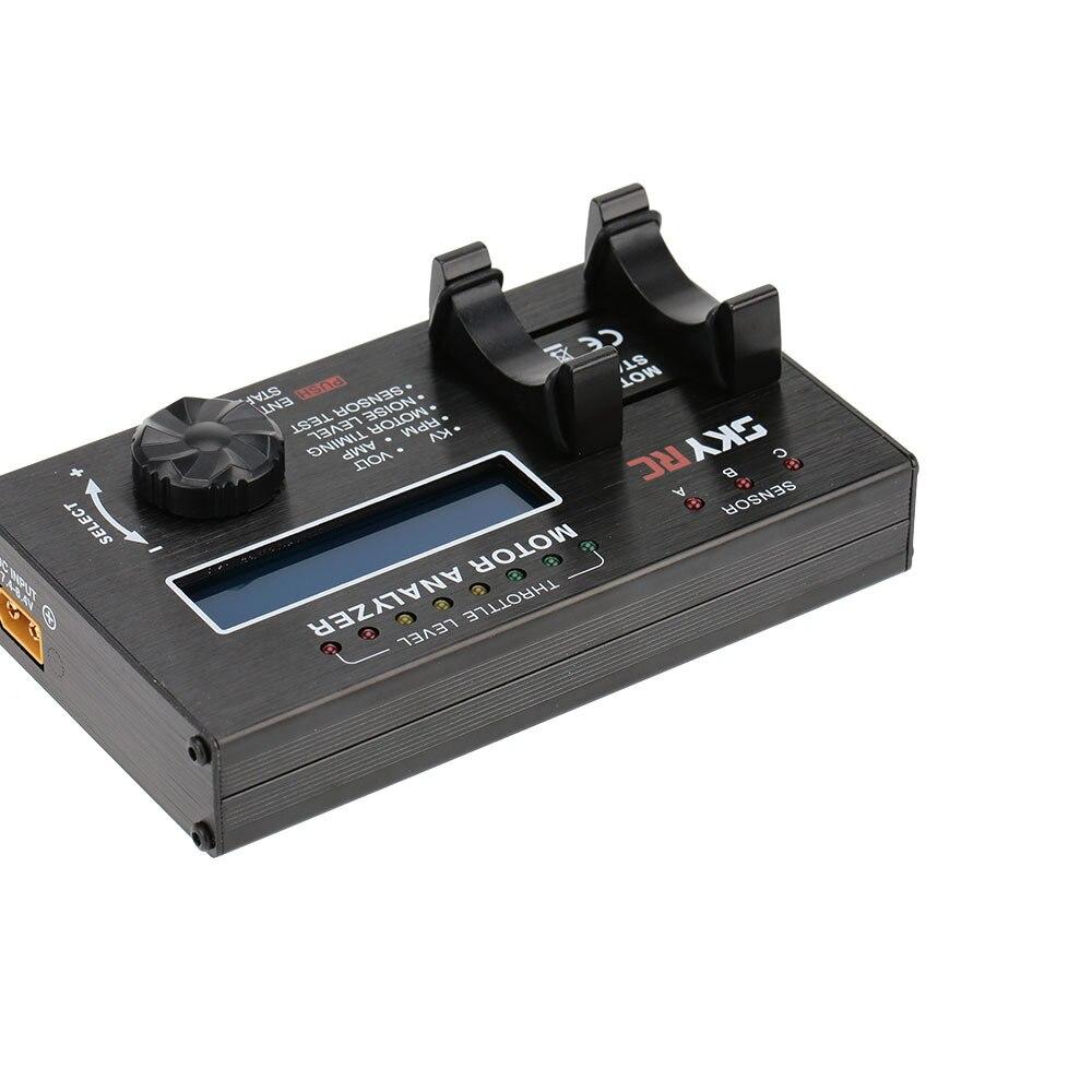 Skyrc бесщеточный двигатель BMA-01 анализатор KV напряжение BPM AMP сроки проверки тестер для RC автомобиль двигатель с ЖК-дисплей экран дисплея небо