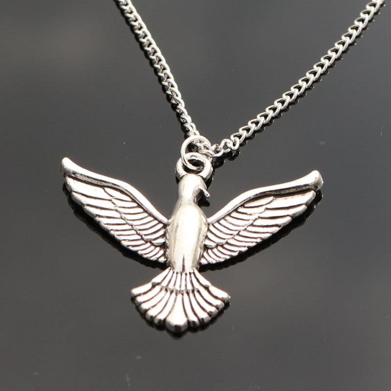 N990 Retro Silver Bird of Peace Necklaces Bijoux Collares For Women Animal Pendant Necklace Collier One Direction 2018 NEW