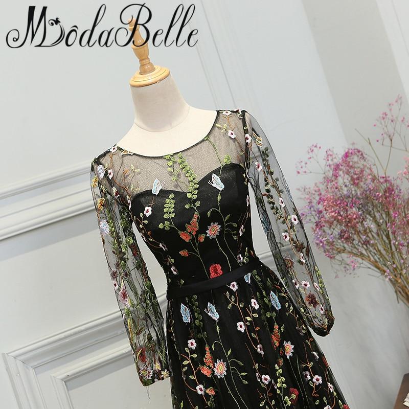 Modabelle Najnoviji stil Crn Duga haljina Prom Promocija 2017 - Haljina za posebne prigode - Foto 4