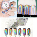 0.5 g/caja Holográfica Láser Rainbow Nail Glitter Powder Cromo Pigmento Glitter Powder Manicura Del Arte Del Clavo Del Brillo de La Decoración