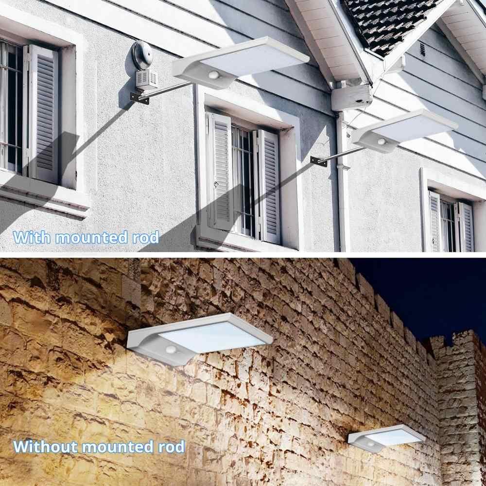 PIR датчик движения, солнечный уличный светильник, 36 светодиодов, открытый водонепроницаемый настенный светильник на солнечных батареях для двора, дорожки, сада, аварийный светильник ing