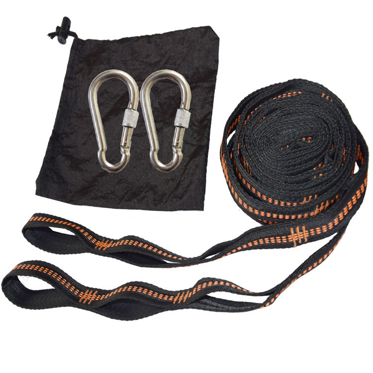 2 PCS Essential Can Hold 2000kg Out Door Camping Hiking Hammock Hanging Belt Hammock Strap Rope Accessories Load Bind Rope hammock hanging belt tree strap nylon rope outdoor camping tool with buckles store 207