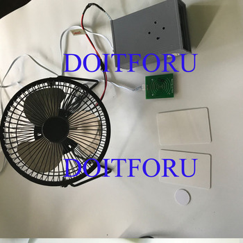 Takagism game real life escape room ic card triggered the mini fan prop audio can be choose chamber room owner tool