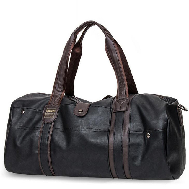 47b05cf93e07 Men Large-Capacity Travel Bags Bucket Casual PU Portable Shoulder Bags High  Quality Men s Vintage
