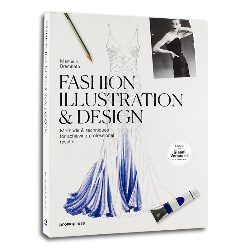 New Fashion Illustration Design Book For Adult Jewelry Hand-painted Manuscript Design Tutorial Clothing Hardcover Book