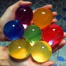 30pcs/lot 10-12mm Big Crystal Soil Mud Hydrogel Gel Kids Toy Water Beads Growing Up Orbiz Balls Wedding Home Decoration