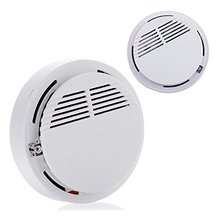 High Sensitive Home Security Smoke Detector Alarm Cordless Stable Standalone Fire Smoke Alarm for Home Kitchen-2 Pcs