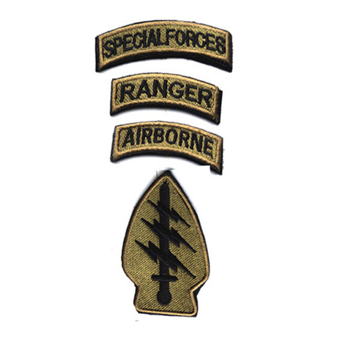 BRAND NEW AIRBORNE ROCKER MILITARY BIKER IRON ON PATCH