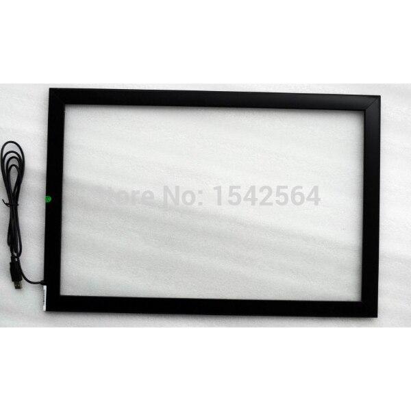 high brightness sunlight readable 27inch ir touch screen panel for self service kiosk