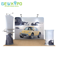 10ft 10ft Trade Show Booth Tension Fabric Banner Stand With Graphic Printing Premium Exhibition Advertising Display