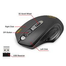 Ratón inalámbrico imice USB 2000 DPI ajustable USB 3,0 receptor óptico ratón de ordenador 2,4 GHz ergonómico