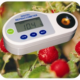 DIGITAL REFRACTOMETER Fruit sugar meter Tester Monitor Detector Analyzer outest digital sugar refractometer 0 10