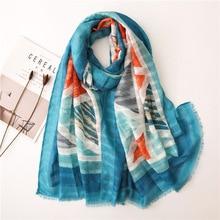 Women Scarf Printe Geometric Scarf Plaid Patchwork Viscose Shawl Long Soft Pashmina Stole Muslim Hijab Wrap Headband цена