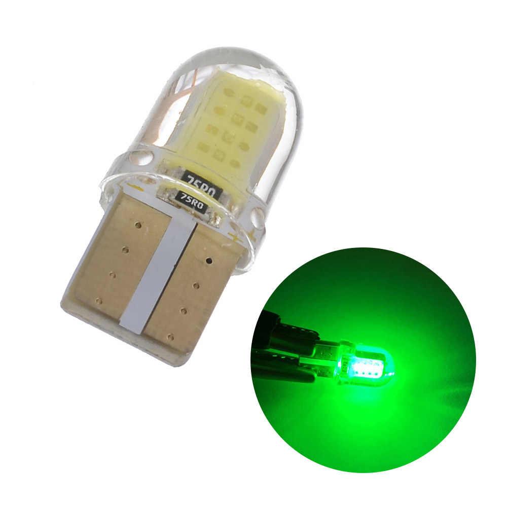 1 ADET T10 W5W 168 194 LED Araç İç Işık Silikon Otomatik Sinyal Lambası 12 V Yan Kama Park Ampul araba Styling