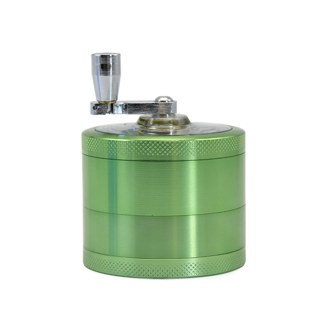 4 Layers Handle Aluminum Alloy Herb Crusher Hand Muller Grinding Tool Storage Smoke Pipe