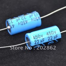 Free shipping 10pcs/lot Axial Electrolytic Capacitor 22uf 450V for tube amplifier DIY