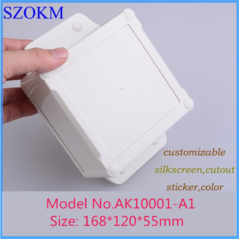 4 pieces a lot, IP68 abs waterproof enclosure 168*120*55mm electronics project plastic box for electronics pcb enclosure 5 pieces lot d1fh3 1f electronics component