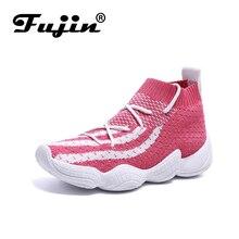Fujin  Spring New 2019 Wild Korean Sports Shoes Women Ins Super Fire Old Socks Female