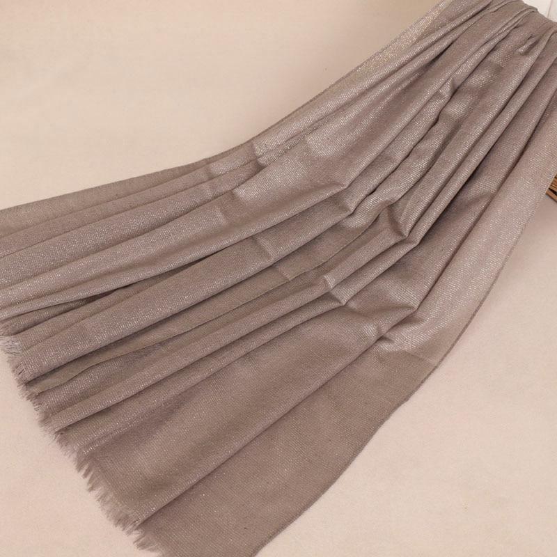 Women glitter gold thread scarf viscose shimmer plain wraps shawls scarves muslim hijab hot sale summer