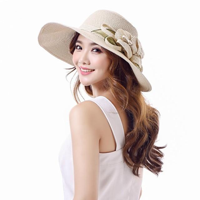 5bb767e18e2 Lady Beach Hat Women s Outside Travel Sun Cat Foldable Adult Summer Sun  Visor Hat Uv Protection Women s Visor Sun Cap B-7652