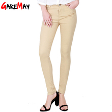 GAREMAY Women's Candy Pants Pencil Trousers 2017 Spring Fall Khaki Stretch Pants For Women Slim Ladies Jean Trousers Female 1010