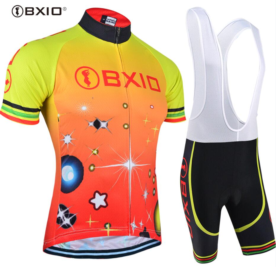 Bxio Summer Men Cycling Set Mtb Bike Clothing Cool Bicycle Clothes Outdoor Cycling Sportwear  Pro Equipo de Ciclismo 105 2017 new arrival bxio cycling jerseys long sleeve bicycle clothing autumn pro tour team bike clothes ropa ciclismo 109