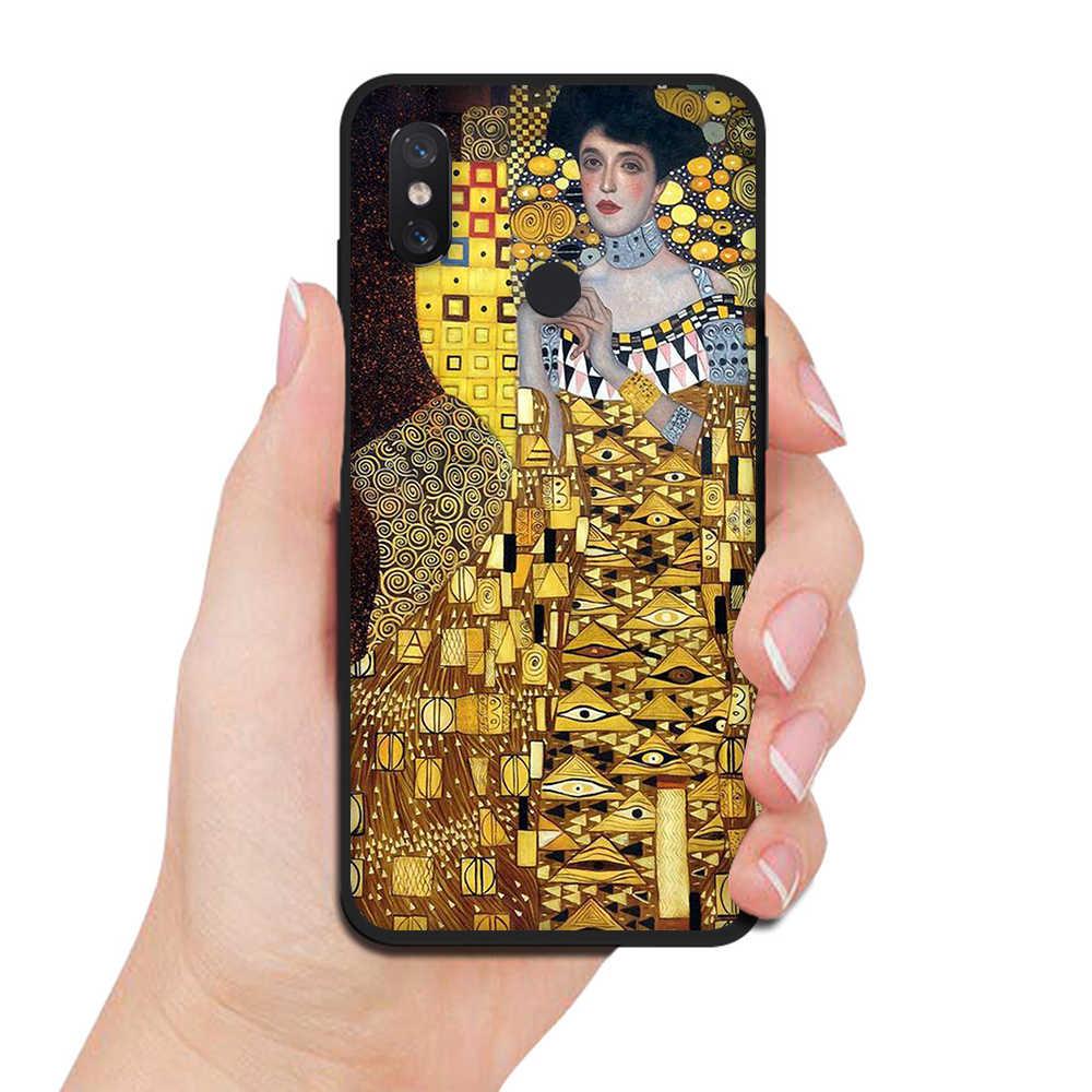 Beso de Gustav Klimt diseño de TPU funda de silicona del teléfono para Xiaomi rojo mi 7A 8A K20 Nota 8 mi 9T A3 Pro caso suave